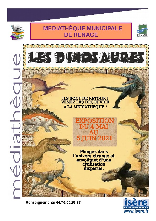 """EXPOSITION """"LES DINOSAURES"""""""